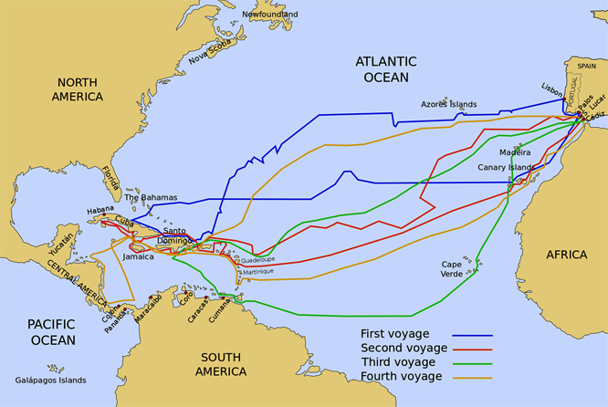 a look at the circumstances that lead to christopher columbus discovery of america in 1942